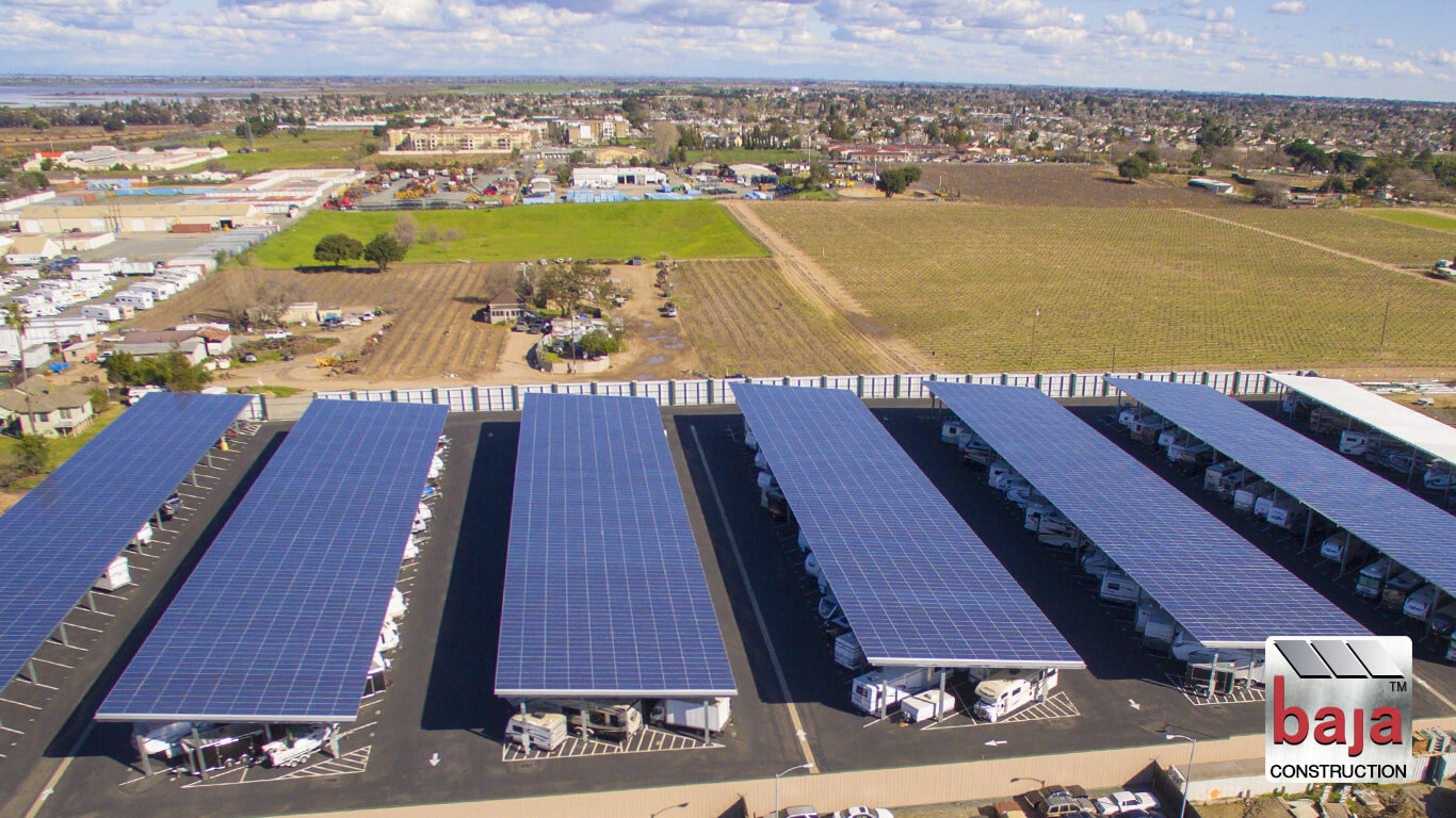 1.678mw solar system is a second revenue income for owner of rv storage