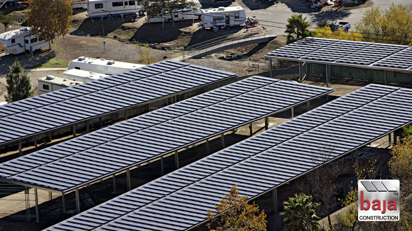 campers and rv's enjoy santee lake amenties like solar covered storage