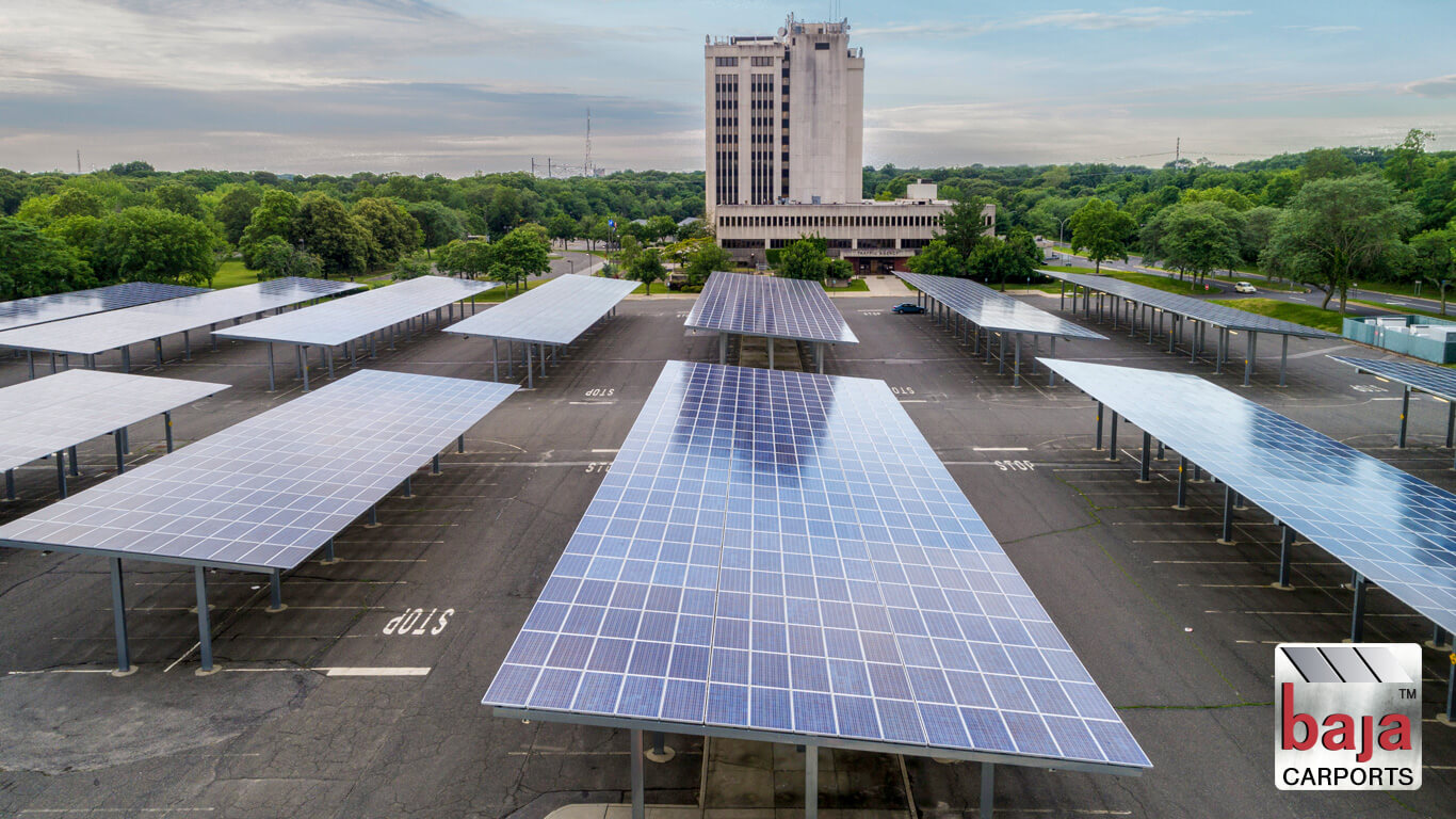 solar carports cover suffolk county district court in central islip new york