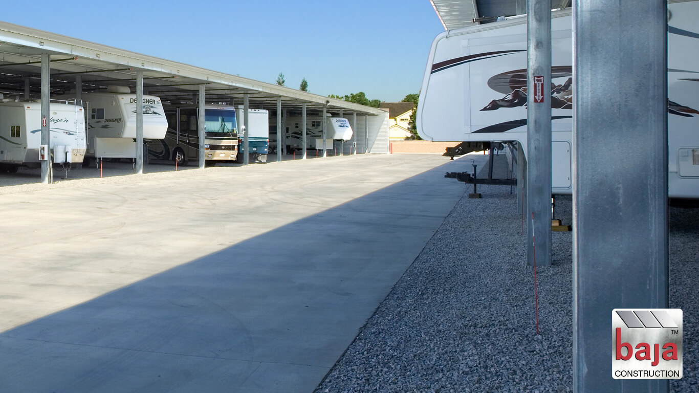 most effective and functional rv and boat storage business layout