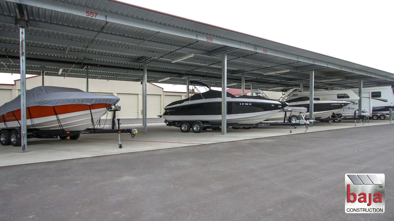 covered canopies at livermore rv and boat storage