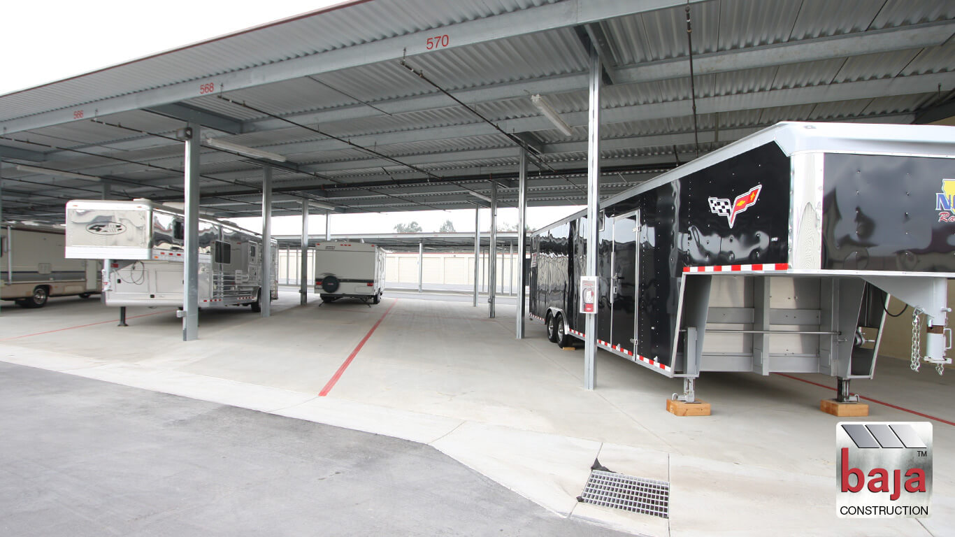 lots of room to maneuver toy haulers at livermore's interstate rv storage