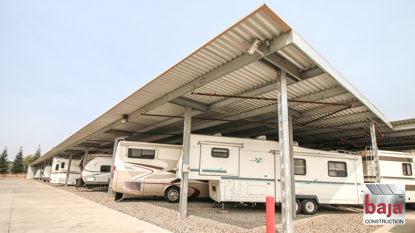 los angeles rv and boat covered shade canopies