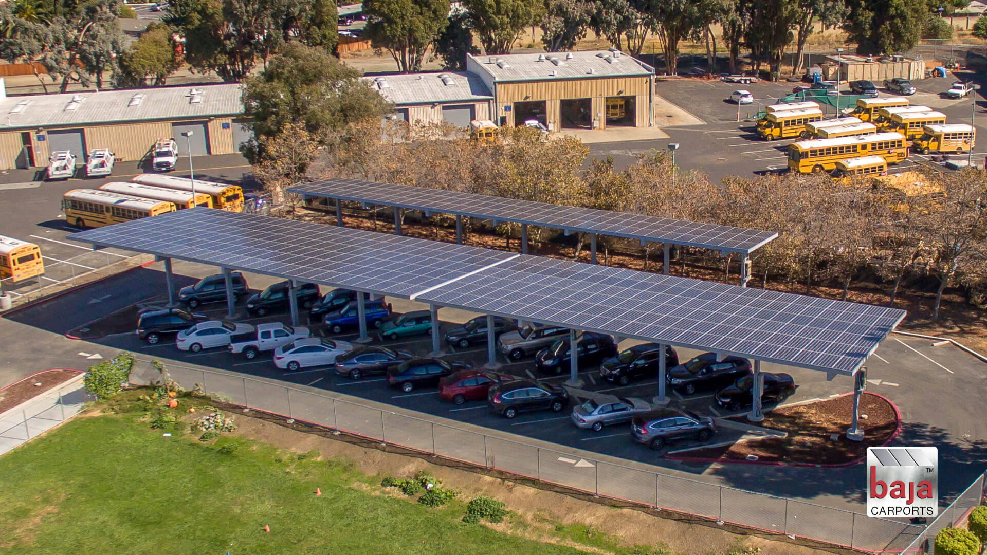 solar carports installed at alvarado elementary in union city ca