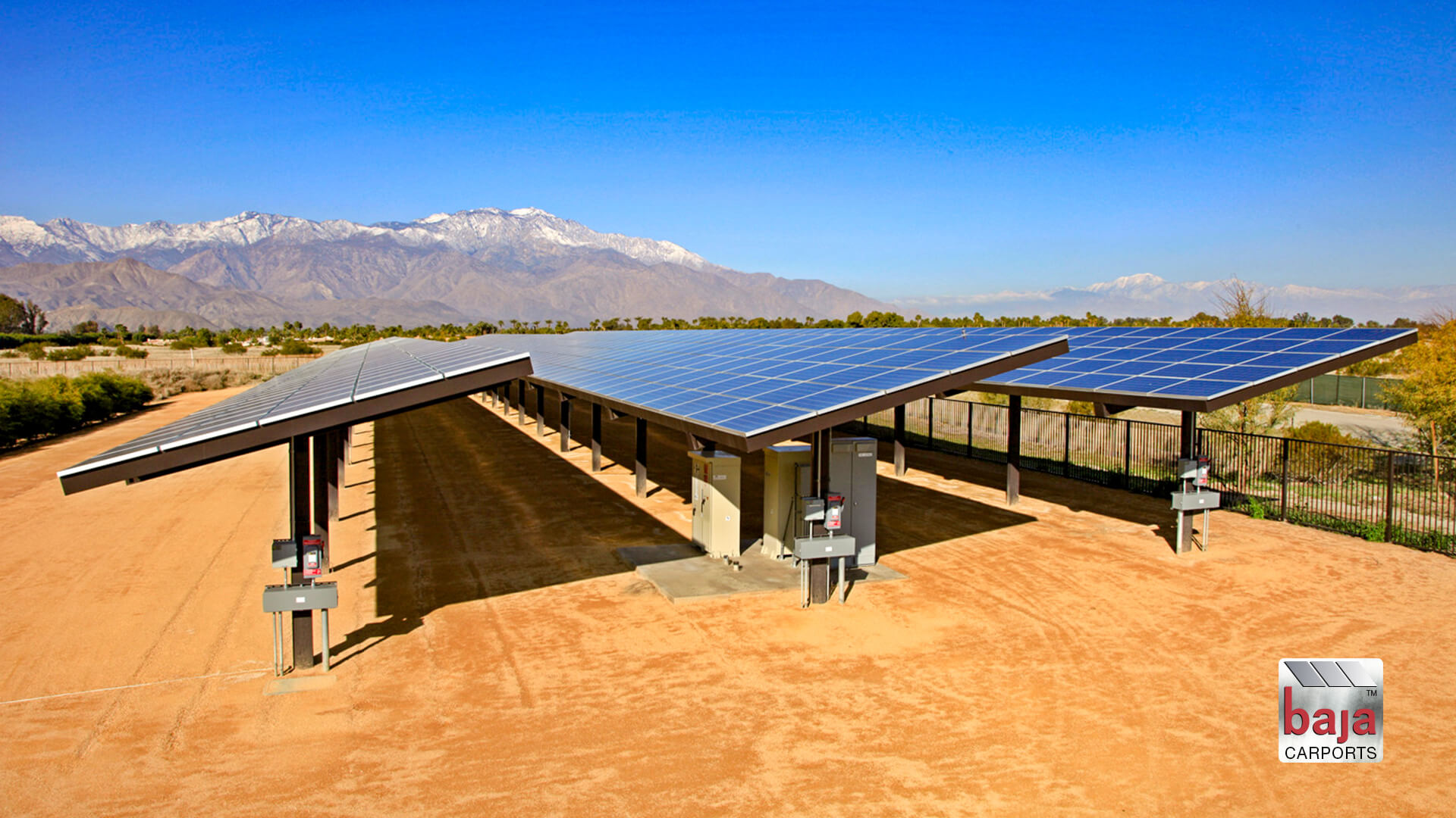 ground mount solar support system baja carports installed