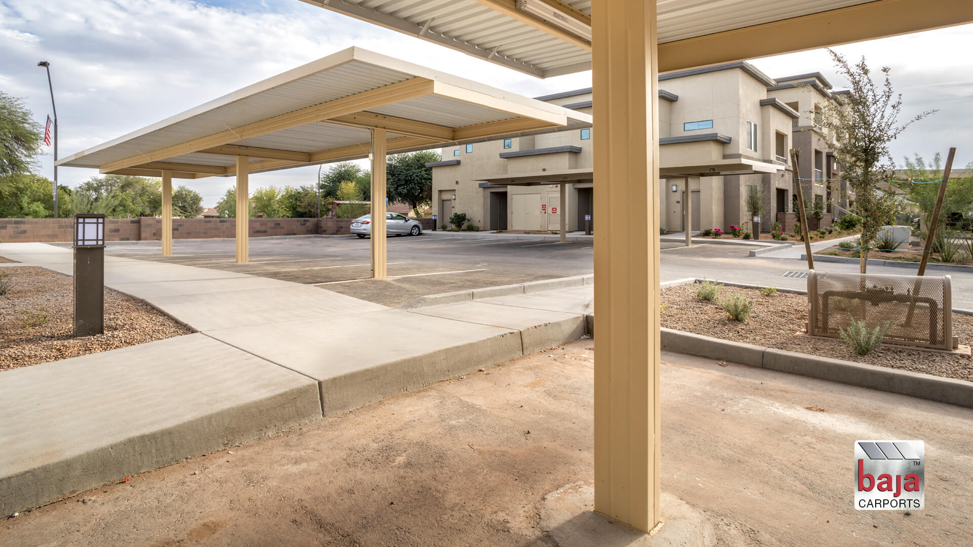beat the heat with baja carport standard shade canopy like this one in gilbert arizona