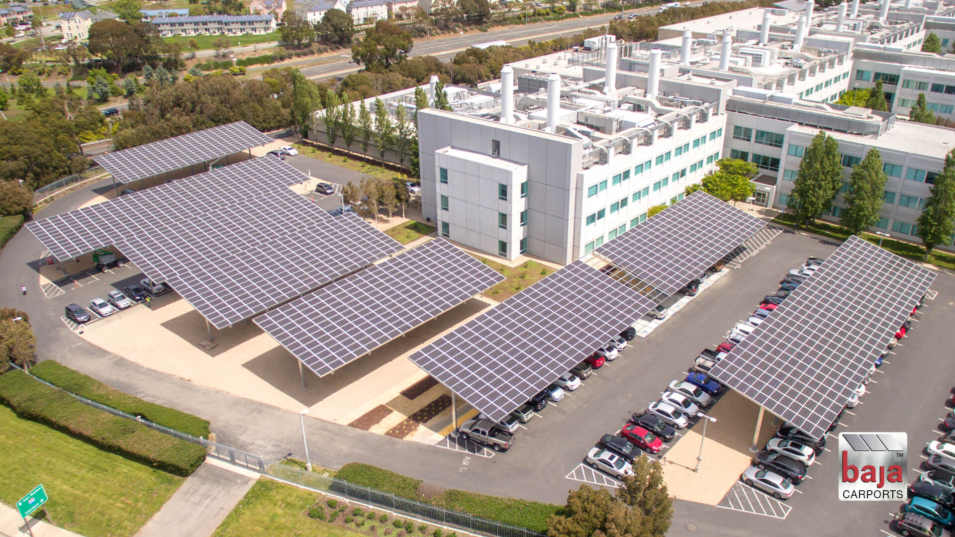 timelapse video installation solar carports at california dept of public health by baja carports
