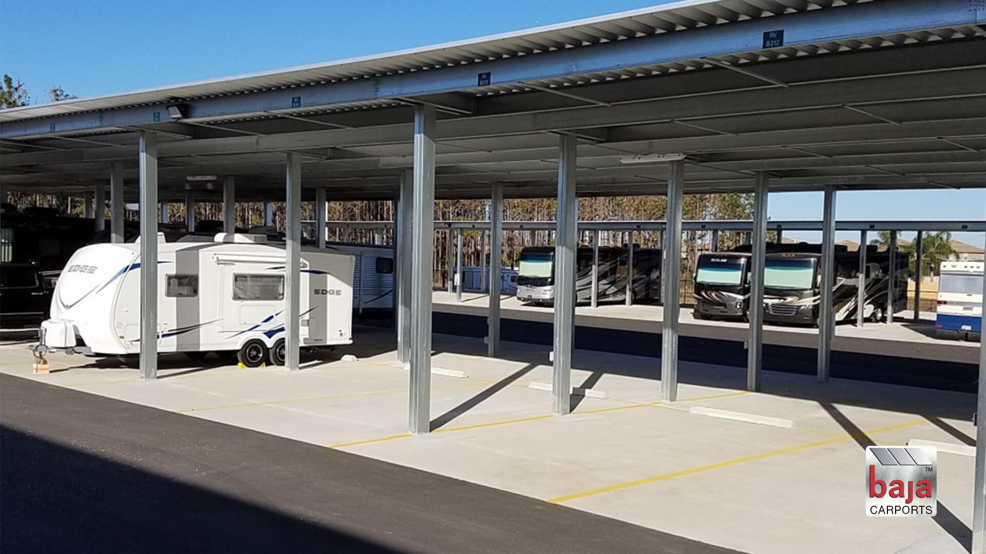 century storage in ridgeview plaza in davenport fl had baja construction install shade canopies