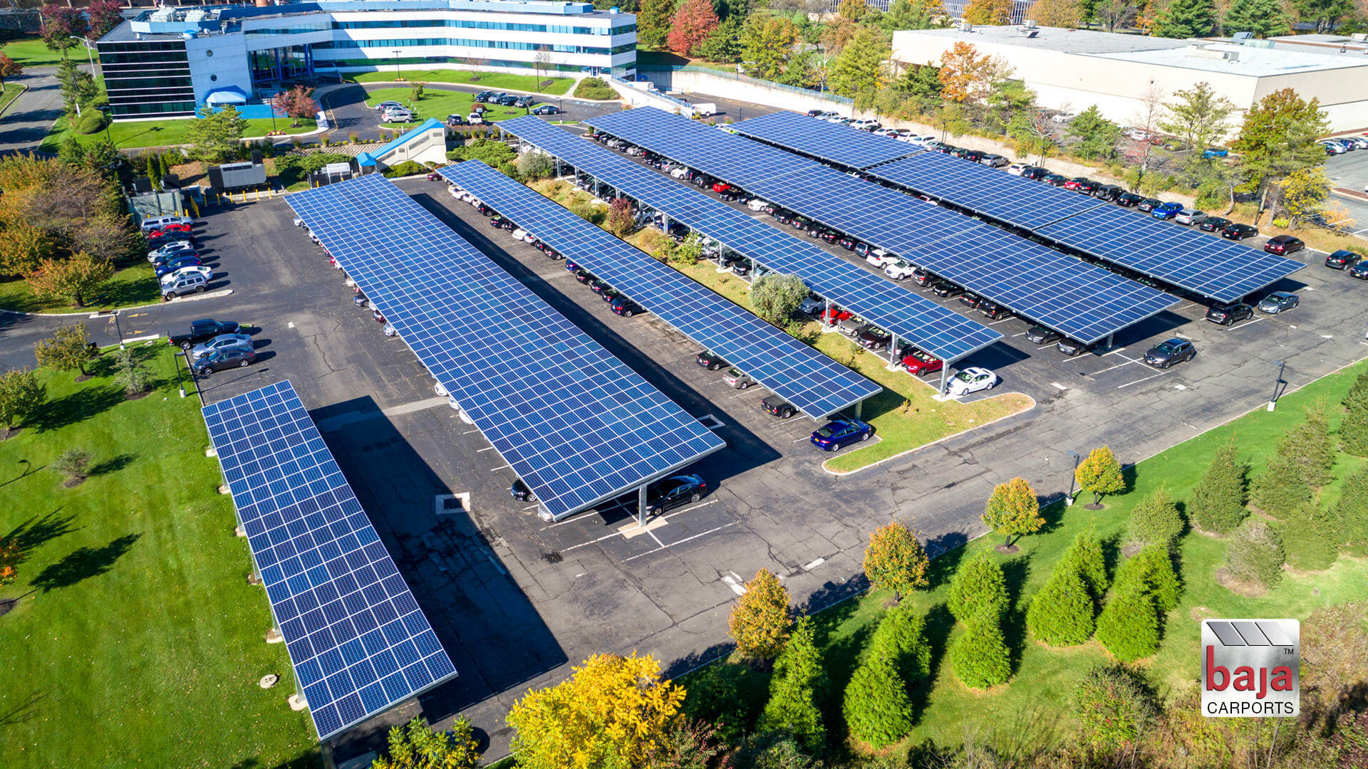 employee solar covered parking lot in Woodland New Jersey