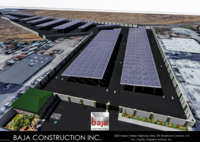 Solar Covered RV & Boat Storage Business Site Plan for Baja's Design-Build Development and Installation Services