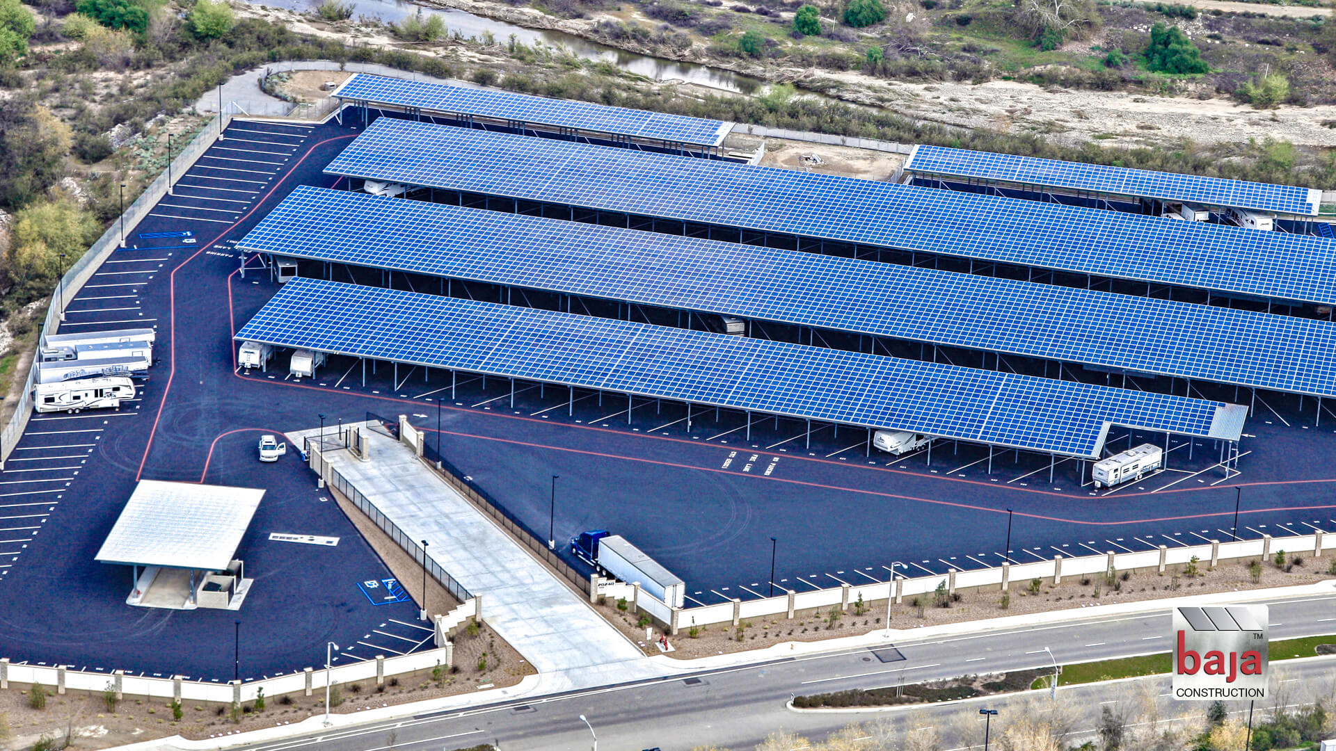 solar rv covered canopies in corona, california