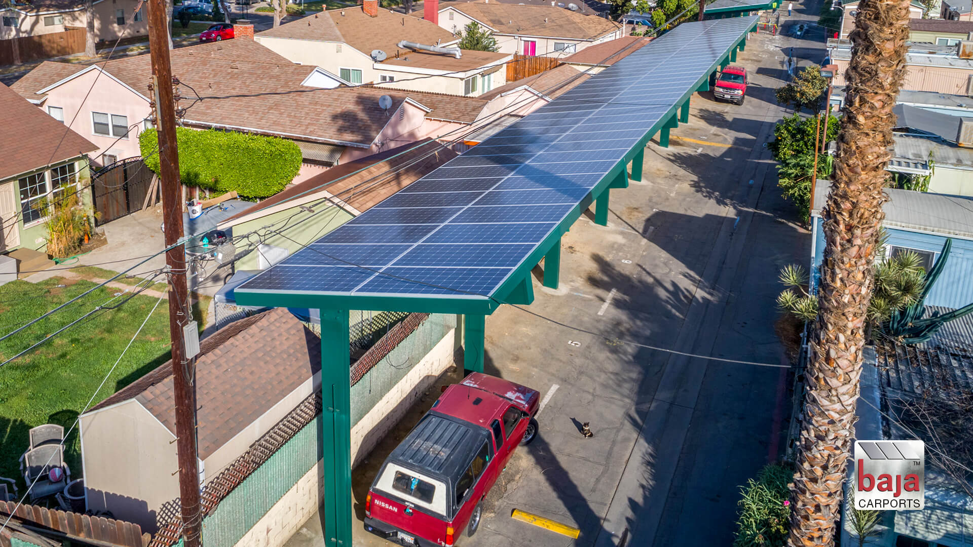 parallel solar carport structure cuts down electric bill and solves parking problem
