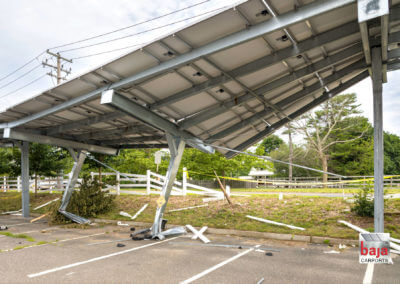 Damaged Carport Caused by Vehicle Collision