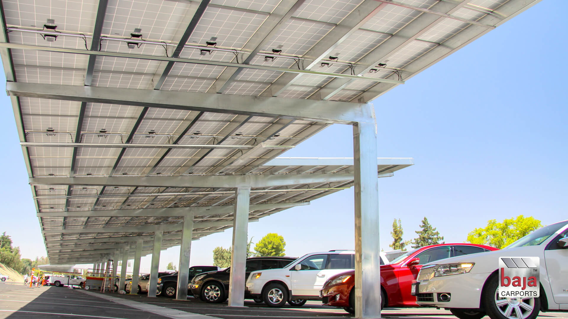 example achieving maximum shade coverage with solar carports