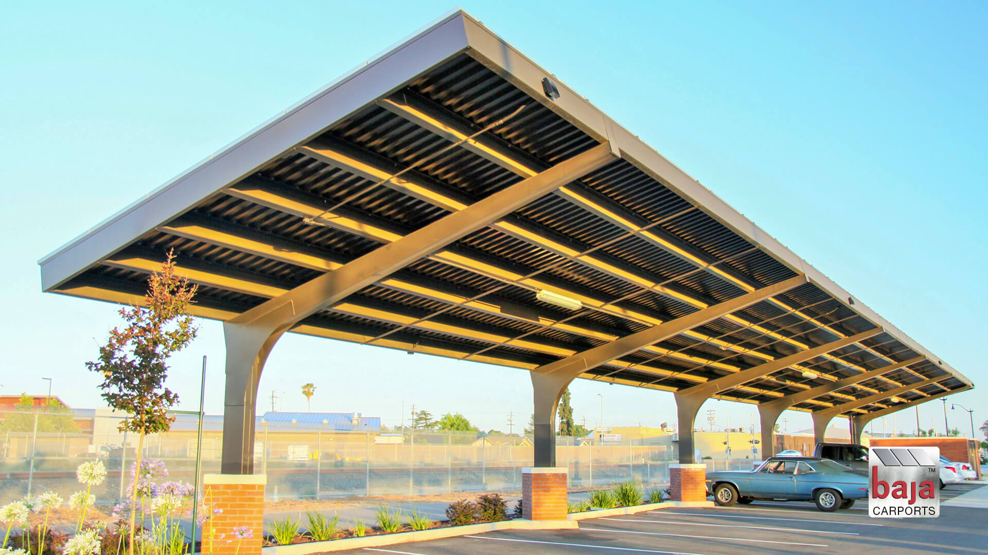 city of manteca transit center full cantilever carport