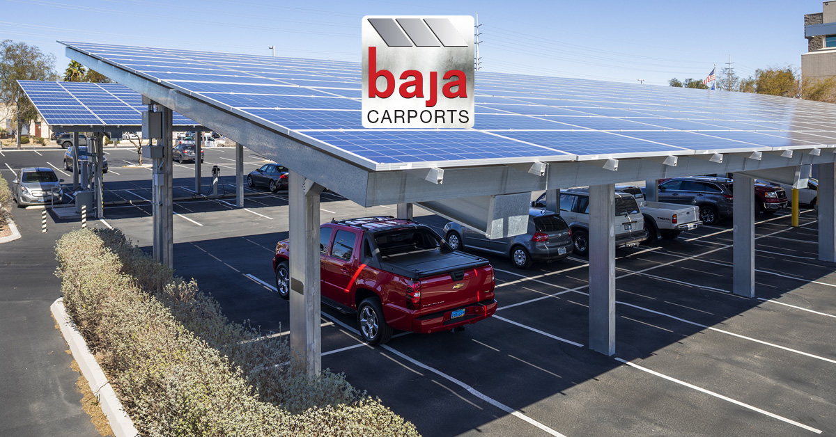 Parking lots covered with Solar Carport systems help reduce electrical bills