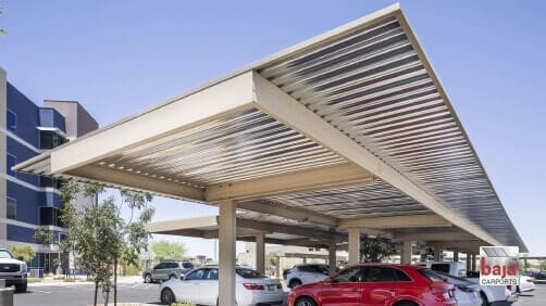 Henderson Hospital in Nevada Physician's Parking Area | Braced Single Post Back Third Back-to-Back [Painted] | 89 covered spaces | 16,587 sq ft