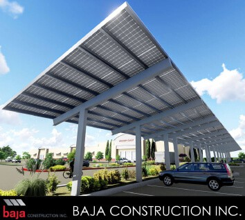 Baja Construction rendering for Baja Carports by an in-house design engineer.