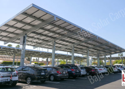 Double bolted full cantilever T solar carport structure Baja Carports