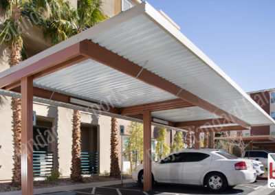 Standard solar ready carport on a multifamily residential property in Nevada