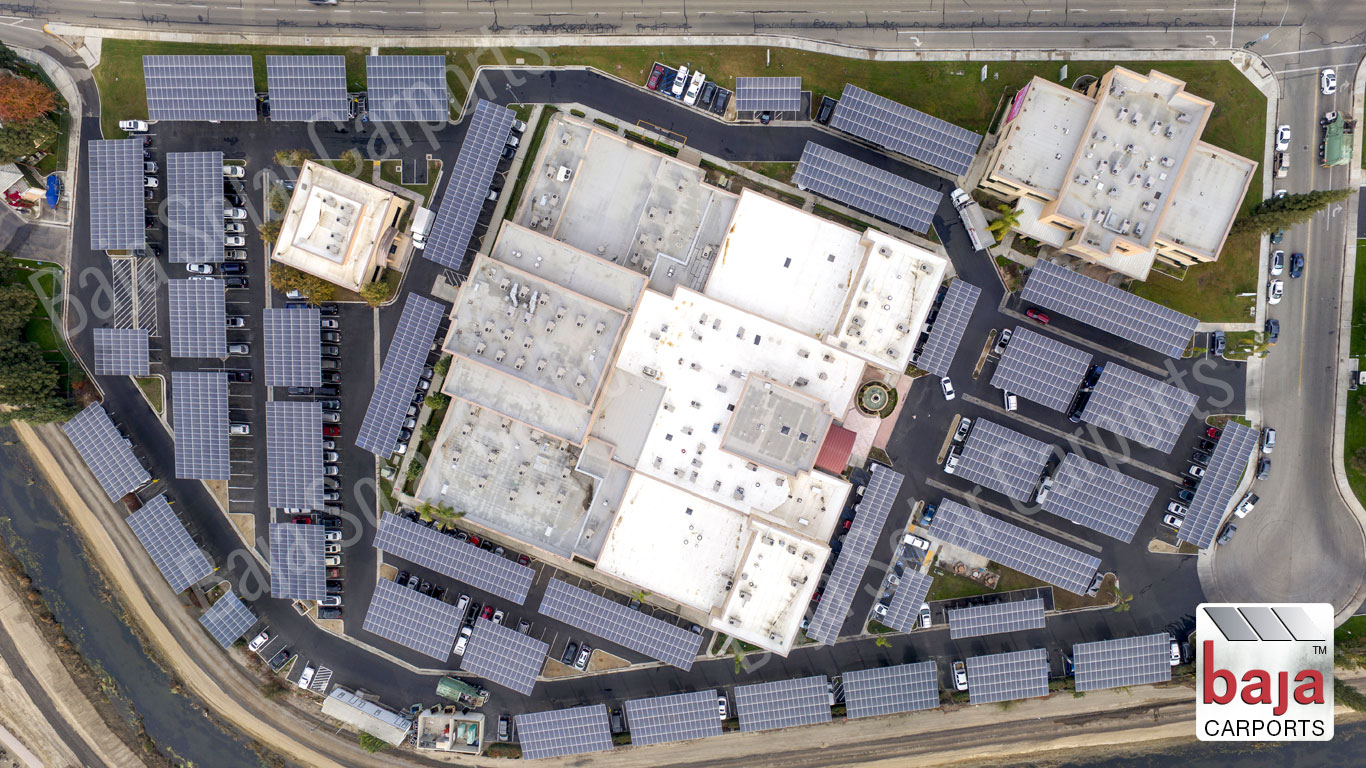Solar Racking System covers Comprehensive Blood and Cancer Center in Bakersfield, CA