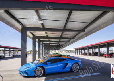 Solar ready carports cover race cars in Vegas, Nevada