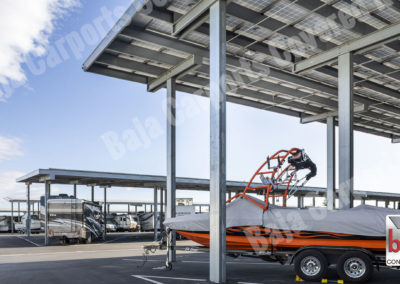 Solar Carports Cover Boat and RV's at Oakley Executive Storage in California