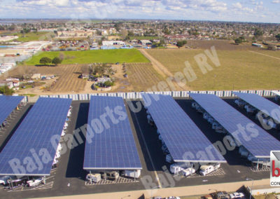 Largest solar carport covered RV & boat storage business in California