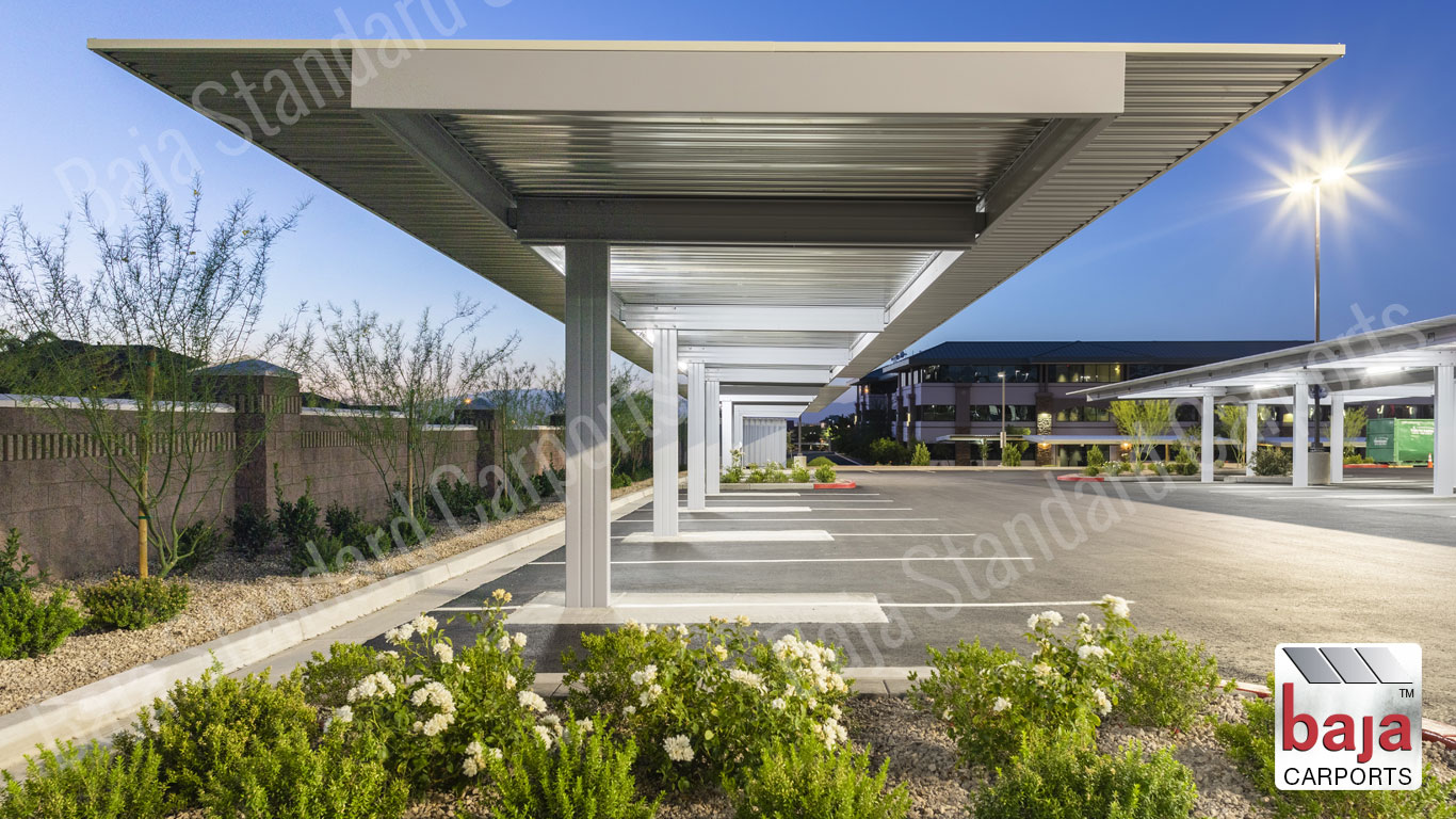 Standard Carports at Henderson Hospital in Nevada Physician's Parking Area