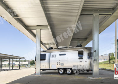 Standard carports with roof decking on a RV storage profit from rent-able space