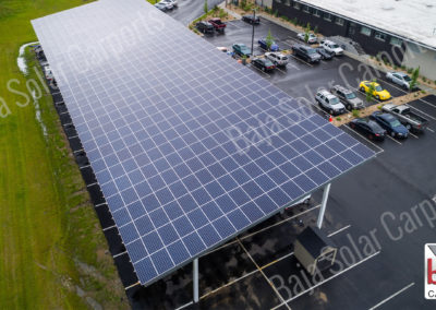 Solar Carports cover AAA fleet yard in Rhode Island