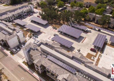 Solar Carports cover tenant parking at Atascadero Apartments in California