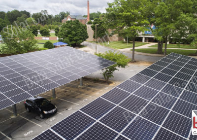 Solar Carports cover student and faculty parking at Catawba College in North Carolina
