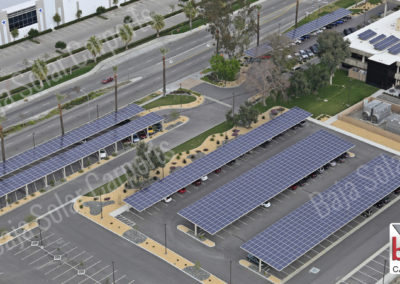 Solar Carports covered office parking lot complex in Southern California