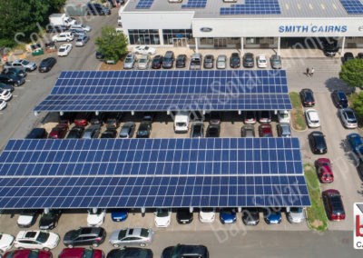 Solar Carports cover Smith Cairns dealership in New York