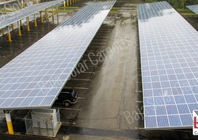 Solar carports cover Washington DC parking lot