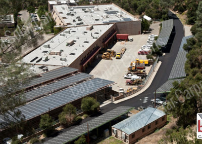 Solar Carports cover Yosemite Administration parking for staff and guest