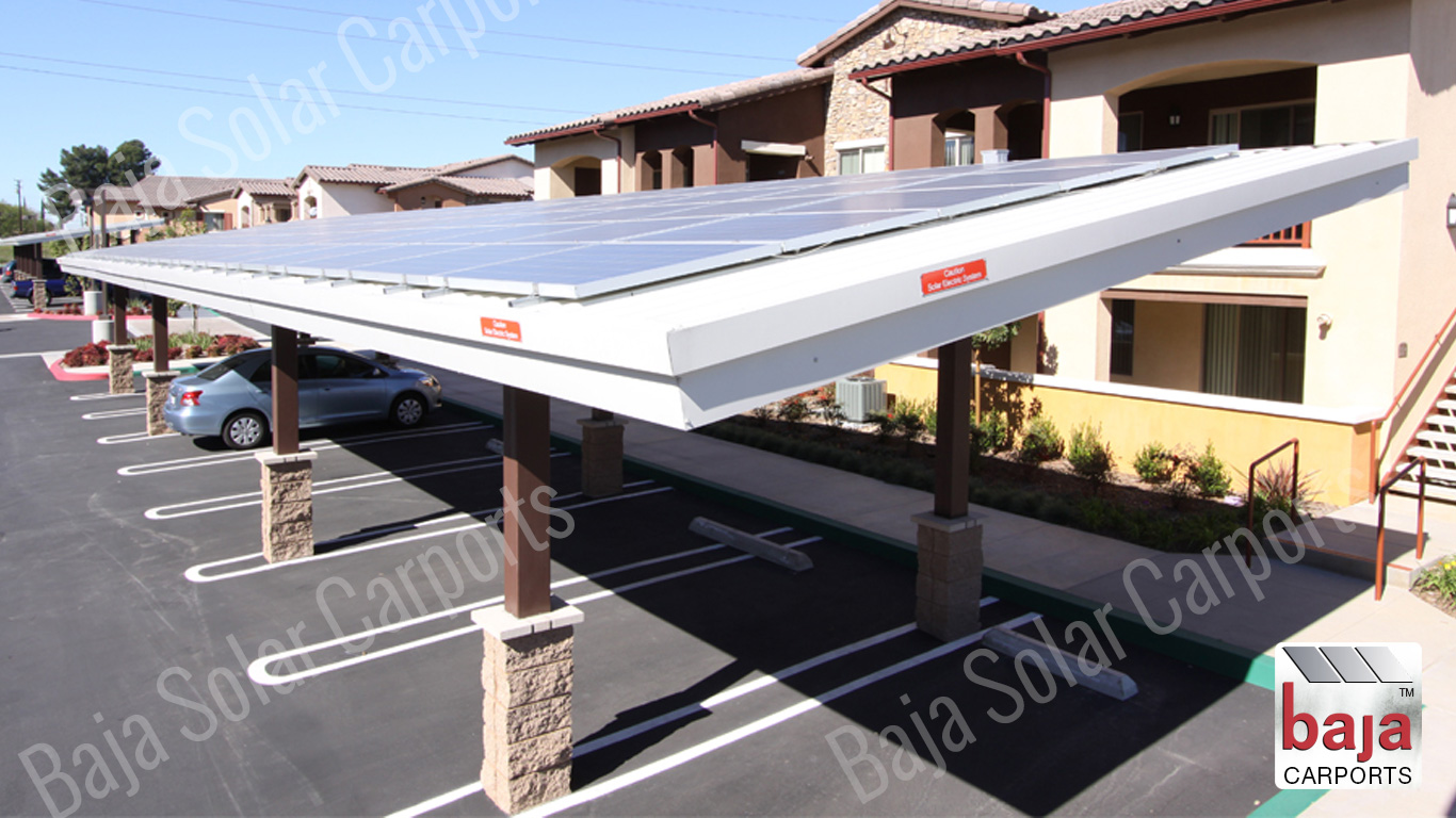 Solar on Roof deck Double Post Wrapped Columns