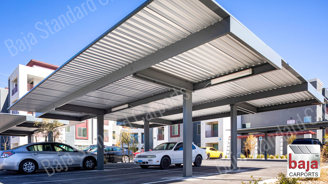 Standard Carport Single Post Back to Back Elysian Multifamily Las Vegas Nevada