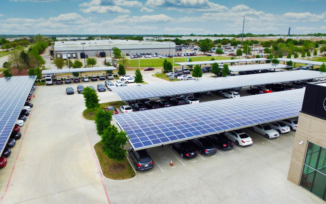 Texas Car Dealership outshines the rest with BAJA Solar Carports